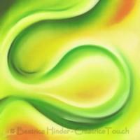 grün-gelb, schwungvoll