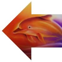 Delfin-Pfeil nach links